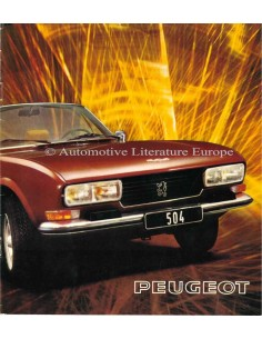 1975 PEUGEOT 504 COUPE / CONVERTIBLE BROCHURE DUTCH
