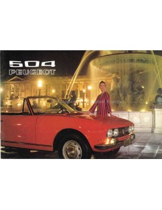 1972 PEUGEOT 504 BROCHURE DUTCH