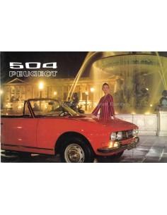 1972 PEUGEOT 504 BROCHURE NEDERLANDS