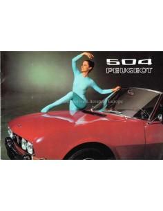 1971 PEUGEOT 504 BROCHURE NEDERLANDS