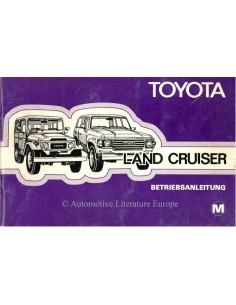 1980 TOYOTA LANDCRUISER OWNERS MANUAL GERMAN