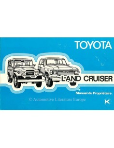 1980 TOYOTA LANDCRUISER OWNERS MANUAL FRENCH