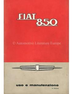 1966 FIAT 850 OWNERS MANUAL ITALIAN