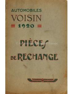 1920 VOISIN TYPE M1 ONDERDELENBOEK FRANS