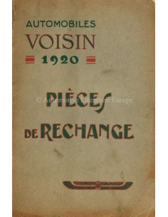 1920 VOISIN TYPE M1 SPARE PARTS MANUAL FRENCH