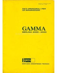 1977 LANCIA GAMMA BERLINA 2000 - 2500 MAIN DATE FOR REPAIR WORKSHOP MANUAL ITALIAN