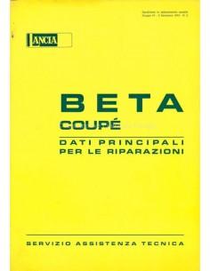 1974 LANCIA BETA COUPE HAUPTTERMIN FÜR REPARATUREN HANDBUCH ITALIENISCH