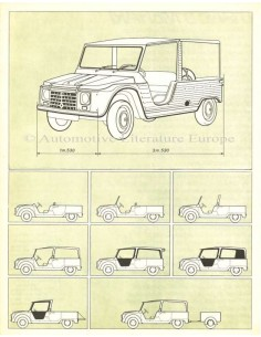 1970 CITROEN DYANE 6 MEHARI BROCHURE DUTCH
