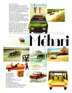 1970 CITROEN MEHARI BROCHURE NEDERLANDS