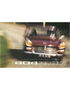 1973 PEUGEOT 404 BROCHURE DUTCH