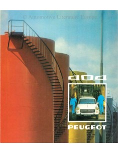 1974 PEUGEOT 404 BROCHURE DUTCH