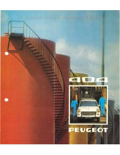 1975 PEUGEOT 404 BROCHURE DUTCH