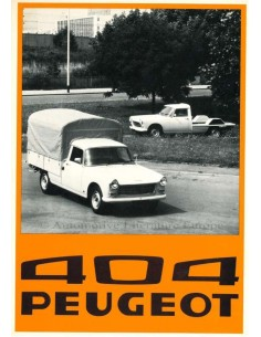 1976 PEUGEOT 404 COMPANY CAR BROCHURE DUTCH