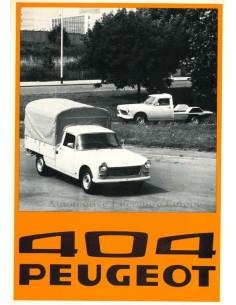 1976 PEUGEOT 404 DIENSTWAGEN PROSPEKT NIEDERLANDISCH