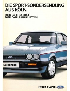 1984 FORD CAPRI PROSPEKT DEUTSCH