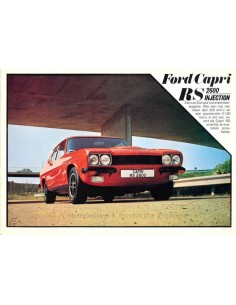 1973 FORD CAPRI RS 2600 INJECTION BROCHURE DUTCH