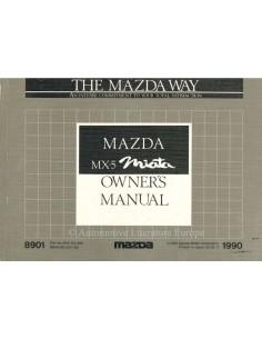 1990 MAZDA MX-5 MIATA BETRIEBSANLEITUNG ENGLISCH