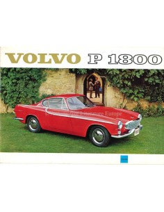 1961 VOLVO P 1800 BROCHURE ENGLISH
