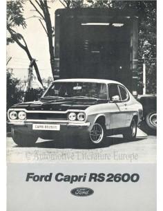 1972 FORD CAPRI RS 2600 BROCHURE DUTCH