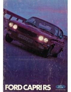 1972 FORD CAPRI RS BROCHURE DUITS