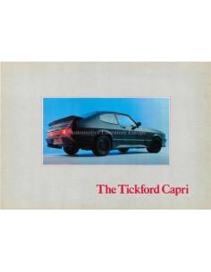 1983 FORD TICKFORD CAPRI PROSPEKT ENGLISCH