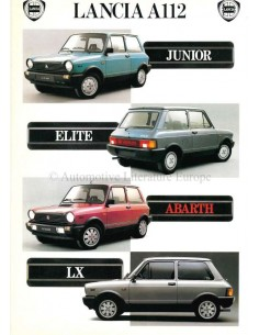 1985 LANCIA A112 BROCHURE DUTCH