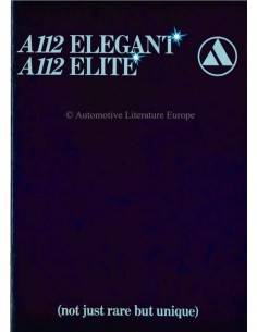 1979 AUTOBIANCHI A112 ELEGANT / ELITE BROCHURE ENGLISH
