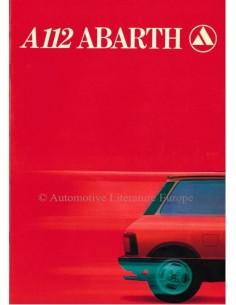 1980 AUTOBIANCHI A112 ABARTH BROCHURE FRANS