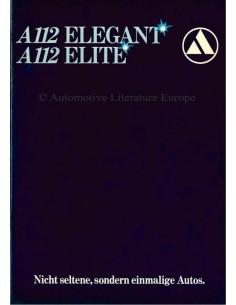 1979 AUTOBIANCHI A112 ELEGANT / ELITE BROCHURE DUITS