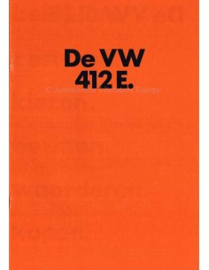 1973 VOLKSWAGEN 412 E BROCHURE DUTCH