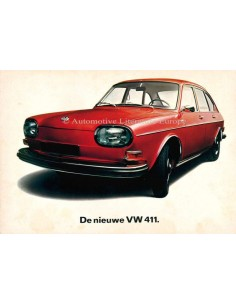 1968 VOLKSWAGEN 411 BROCHURE DUTCH