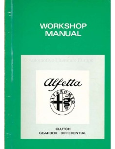 1973 ALFA ROMEO ALFETTA GEARBOX WORKSHOP MANUAL
