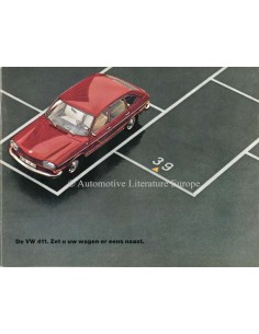 1969 VOLKSWAGEN 411 BROCHURE DUTCH