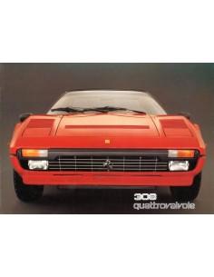 1982 FERRARI 308 QUATTROVALVOLE BROCHURE 245/82