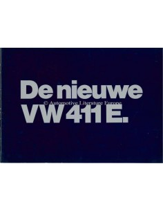 1970 VOLKSWAGEN 411 E BROCHURE DUTCH