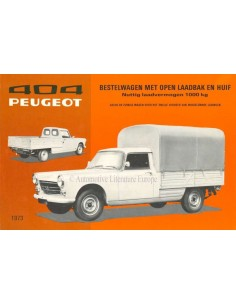 1973 PEUGEOT 404 COMPANY CAR LEAFLET DUTCH