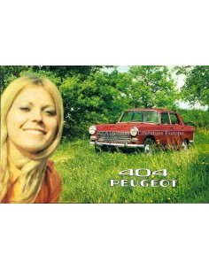 1970 PEUGEOT 404 BROCHURE DUTCH