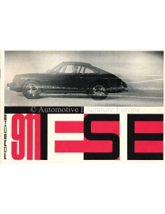 1965 PORSCHE 911 TESTE BROCHURE GERMAN