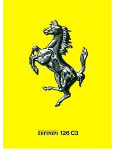 1983 FERRARI 126 C3 BROCHURE ITALIENISCH