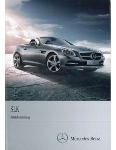 2011 MERCEDES BENZ SLK CLASS OWNERS MANUAL HANDBOOK GERMAN