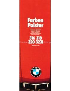 1980 BMW 3ER FARBEN UND POLSTER PROSPEKT