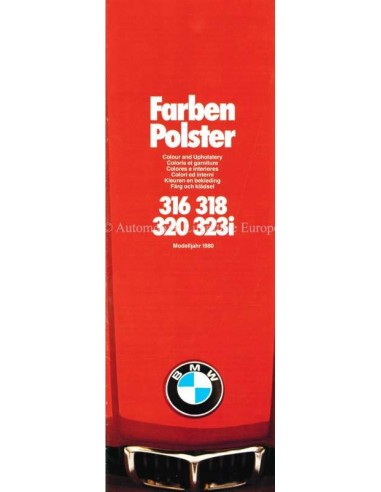 1980 BMW 3 SERIES COLOUR AND UPHOLSTERY BROCHURE