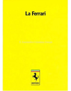 1986 FERRARI LA FERRARI BROCHURE 385/85