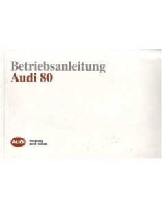 1990 AUDI 80 OWNERS MANUAL HANDBOOK GERMAN