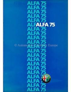 1986 ALFA ROMEO 75 PROSPEKT DEUTSCH