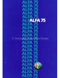 1985 ALFA ROMEO 75 BROCHURE ITALIAN