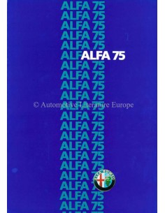 1985 ALFA ROMEO 75 PROSPEKT ITALIENISCH