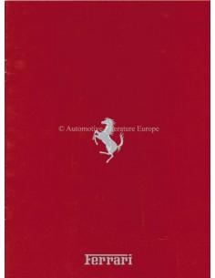 1990 FERRARI PROGRAMM PROSPEKT ITALIENISCH