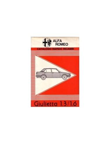 1978 ALFA ROMEO GIULIETTA ONDERDELENHANDBOEK