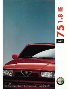 1991 ALFA ROMEO 75 1.8 IE INDY BROCHURE DUITS